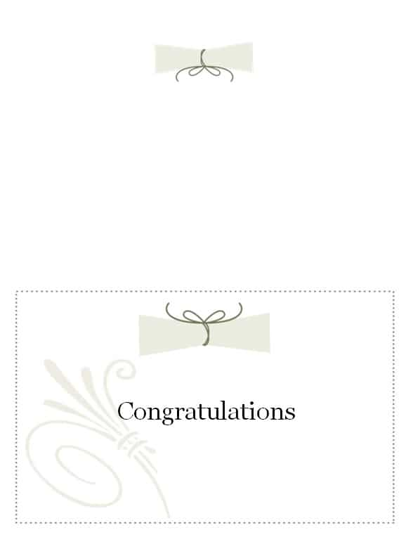 Graduation Name Card Template