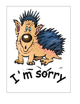 Apology Card Template
