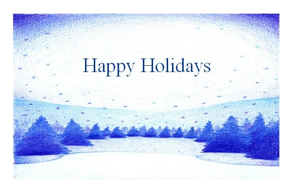 Holiday Greeting Card Template - Excel Pdf Formats
