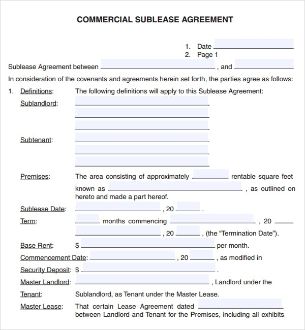 Commercial lease agreement image 1
