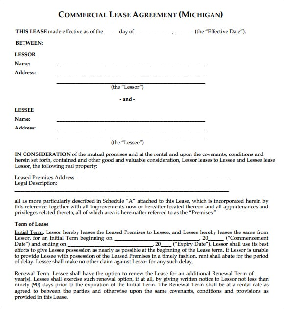 Commercial lease agreement image 3