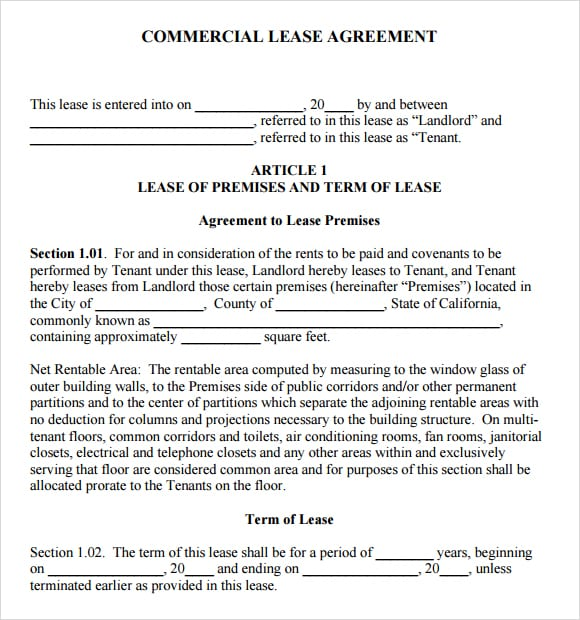 Commercial lease agreement image 4