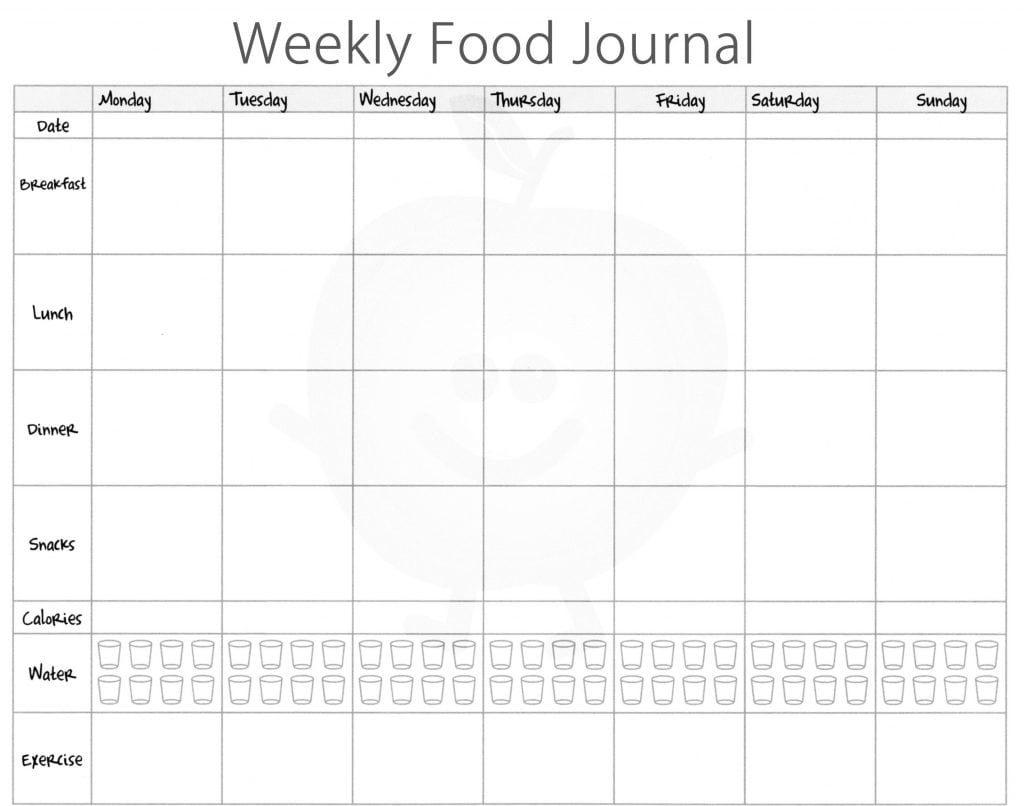 5 Free Food Journal Templates - Excel PDF Formats