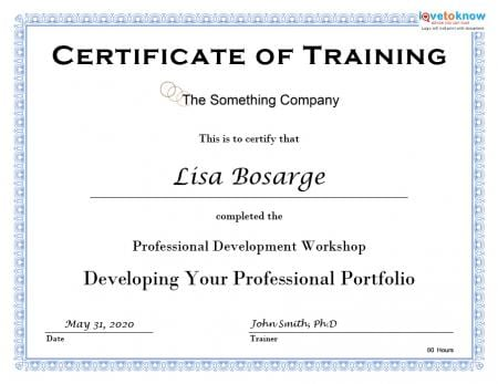 6 Free Training Certificate Templates - Excel PDF Formats