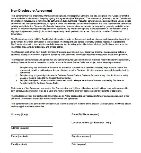 non disclosure agreement image 5