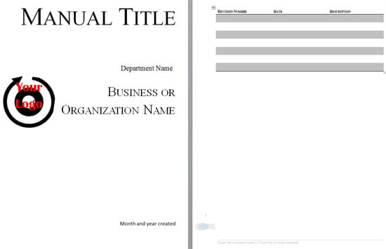 5 Free Training Manual Templates - Excel PDF Formats