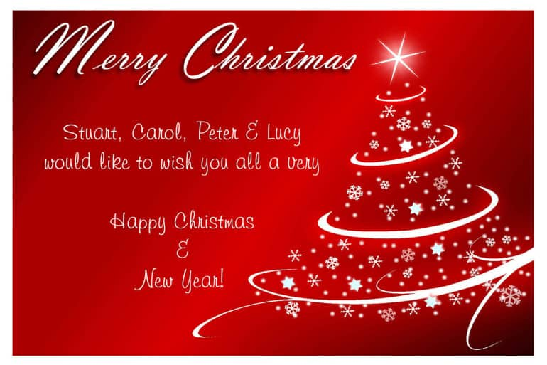 Free Christmas card templates - Excel PDF Formats